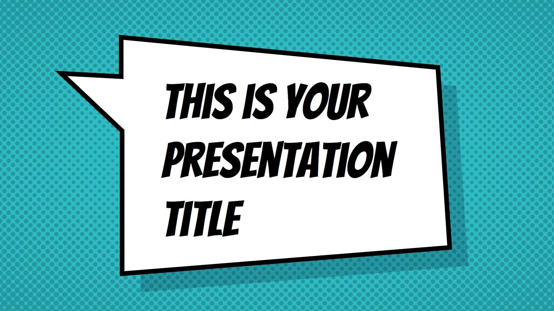 Free Powerpoint Template Or Google Slides Theme With With Comic Powerpoint Template