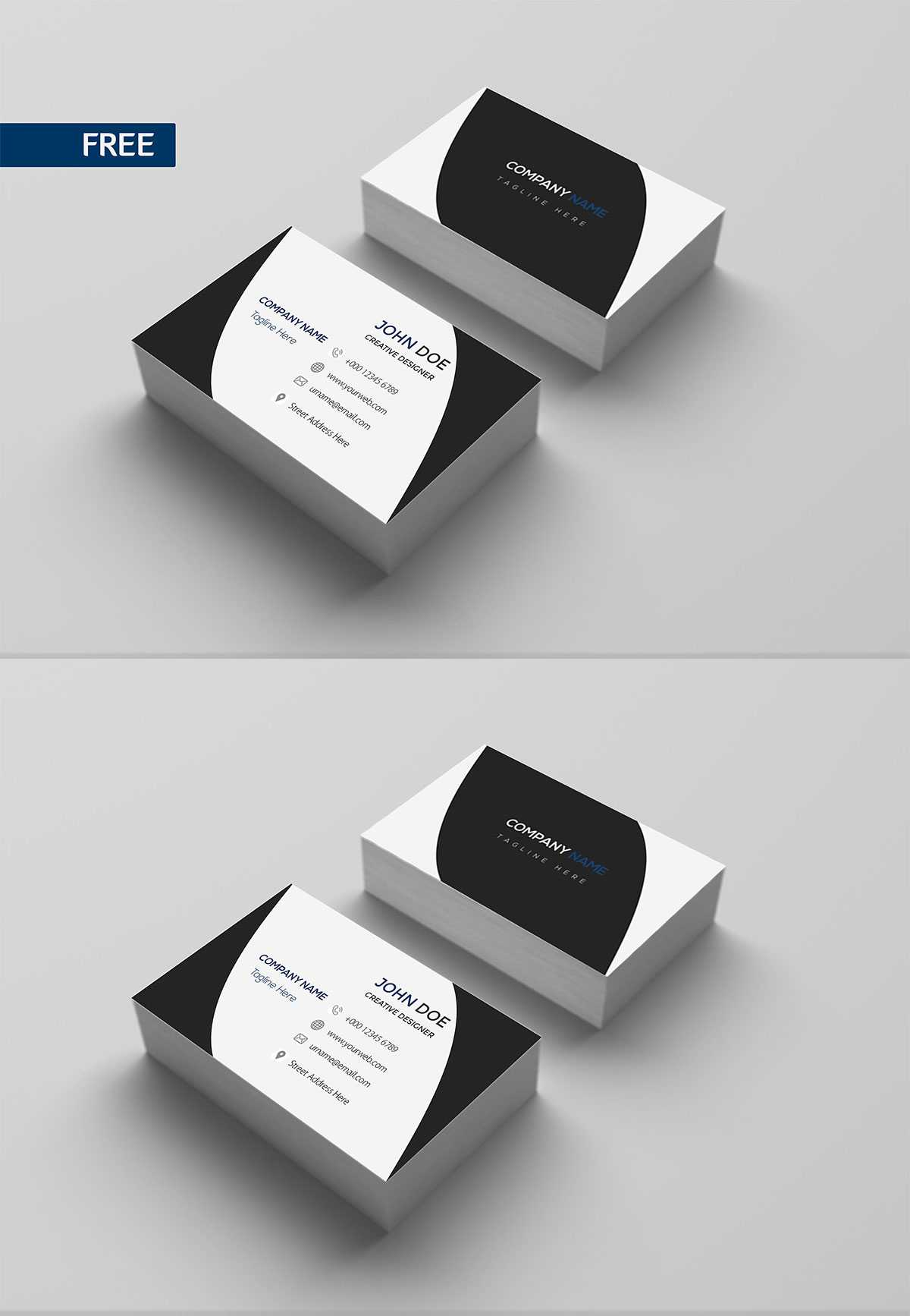 Free Print Design Business Card Template - Creativetacos inside Free Bussiness Card Template