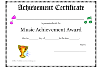 Free Printable Achievement Award Certificate Template regarding Gymnastics Certificate Template