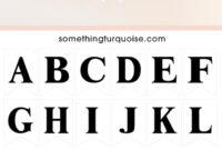 Free Printable Alphabet And Number Banner! Adorable! within Diy Banner Template Free