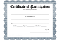 Free Printable Award Certificate Template – Bing Images throughout Certificate Of Participation Word Template