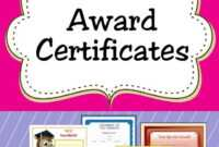Free Printable Award Certificates For Kids | Award throughout Sports Day Certificate Templates Free