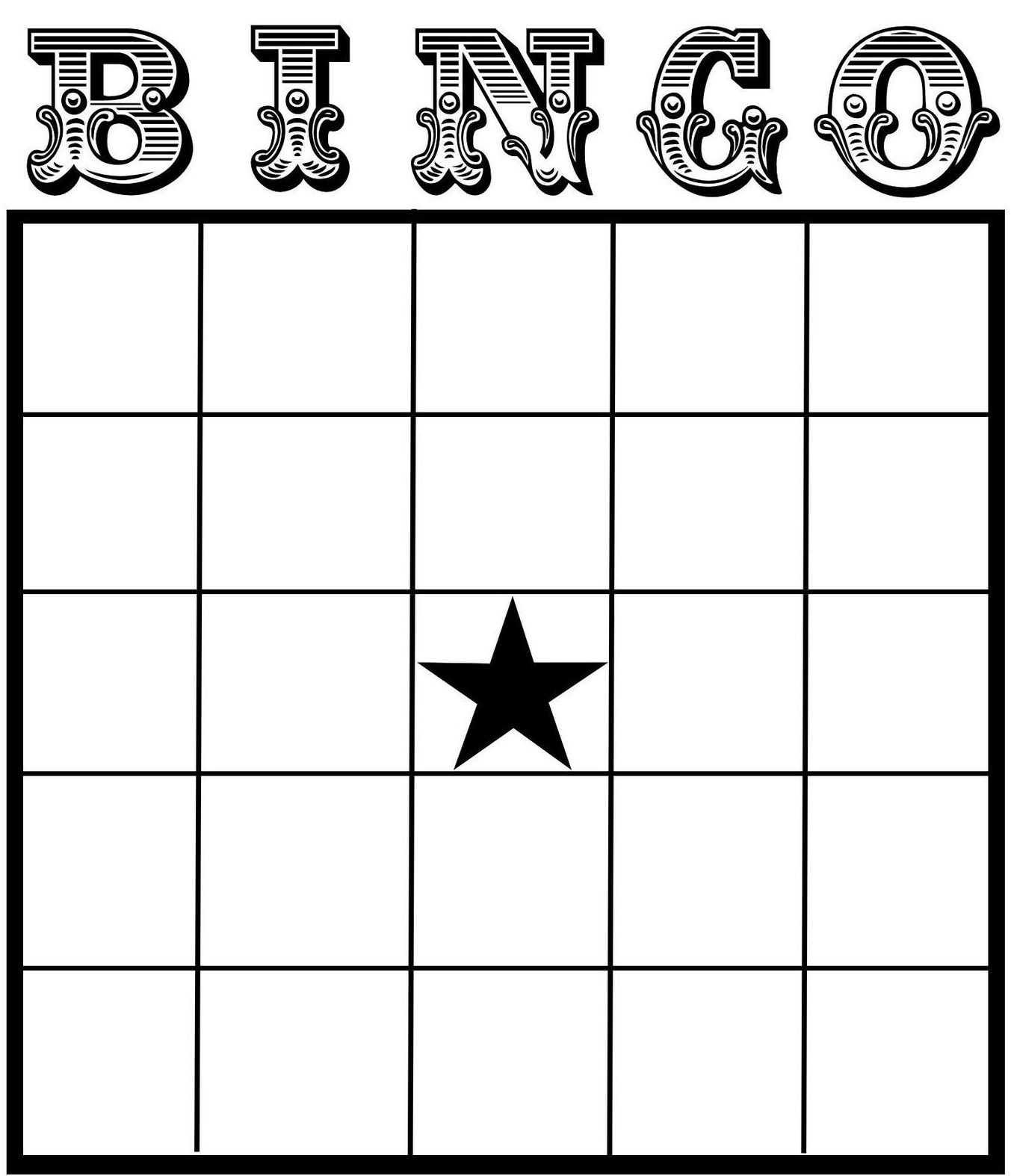 Free Printable Bingo Card Template - Set Your Plan & Tasks Inside Blank Bingo Card Template Microsoft Word