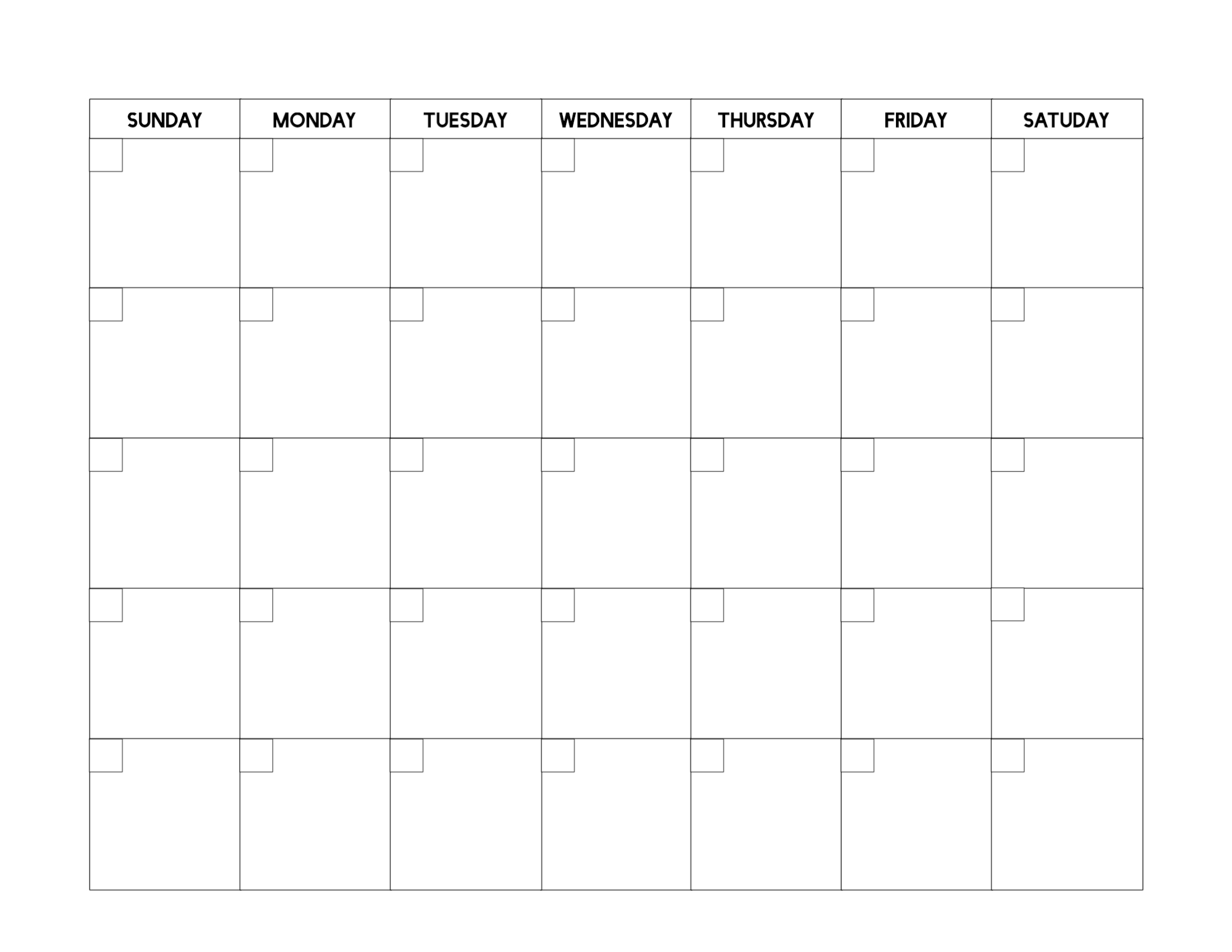 Free Printable Blank Calendar Template - Paper Trail Design intended for Blank Calender Template