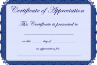 Free Printable Certificates Certificate Of Appreciation with regard to Free Printable Certificate Of Achievement Template