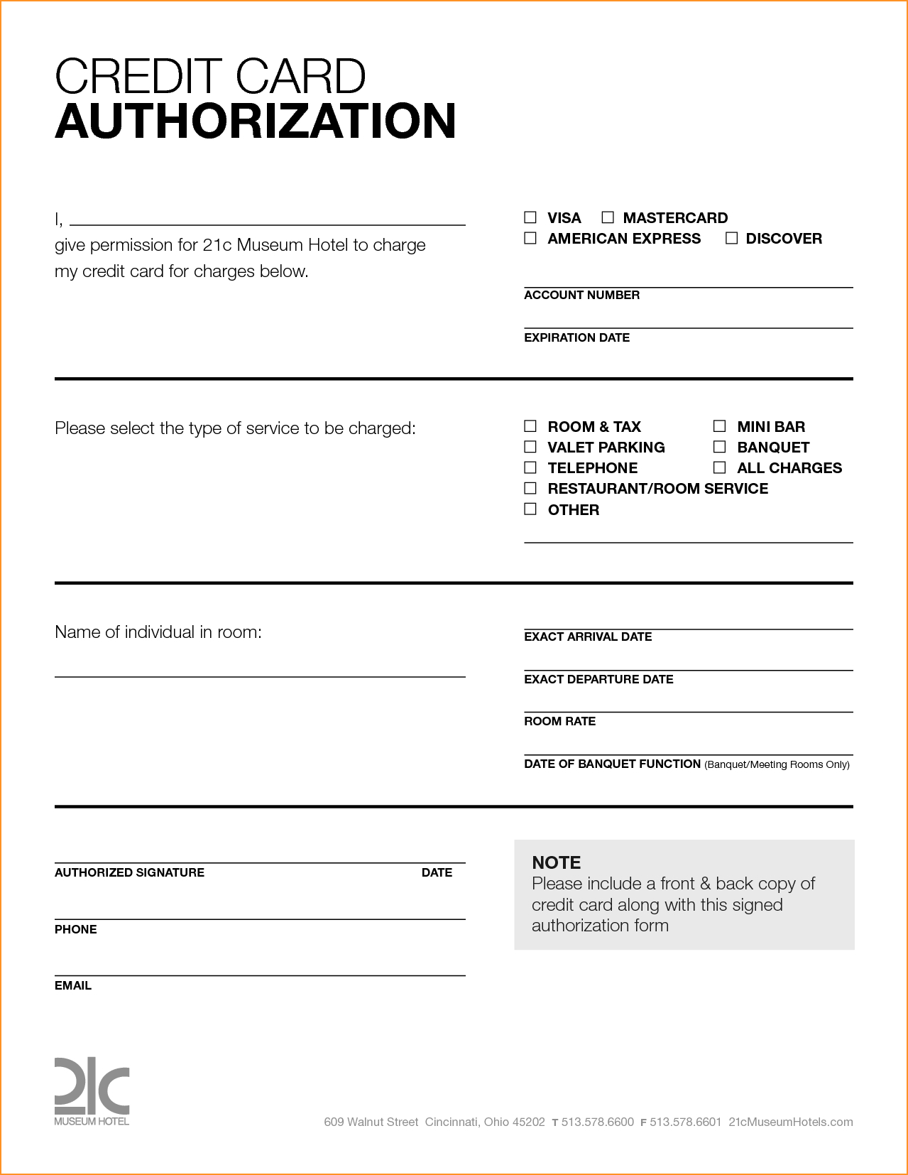 Free Printable Credit Card Authorization Form Blank Pin pertaining to Credit Card Authorization Form Template Word
