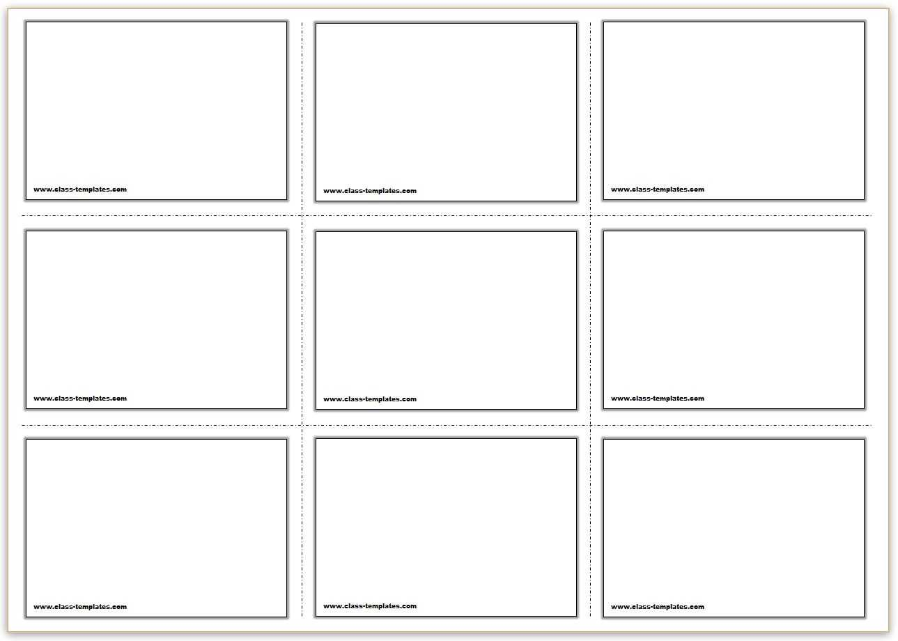 Free Printable Flash Cards Template For Queue Cards Template