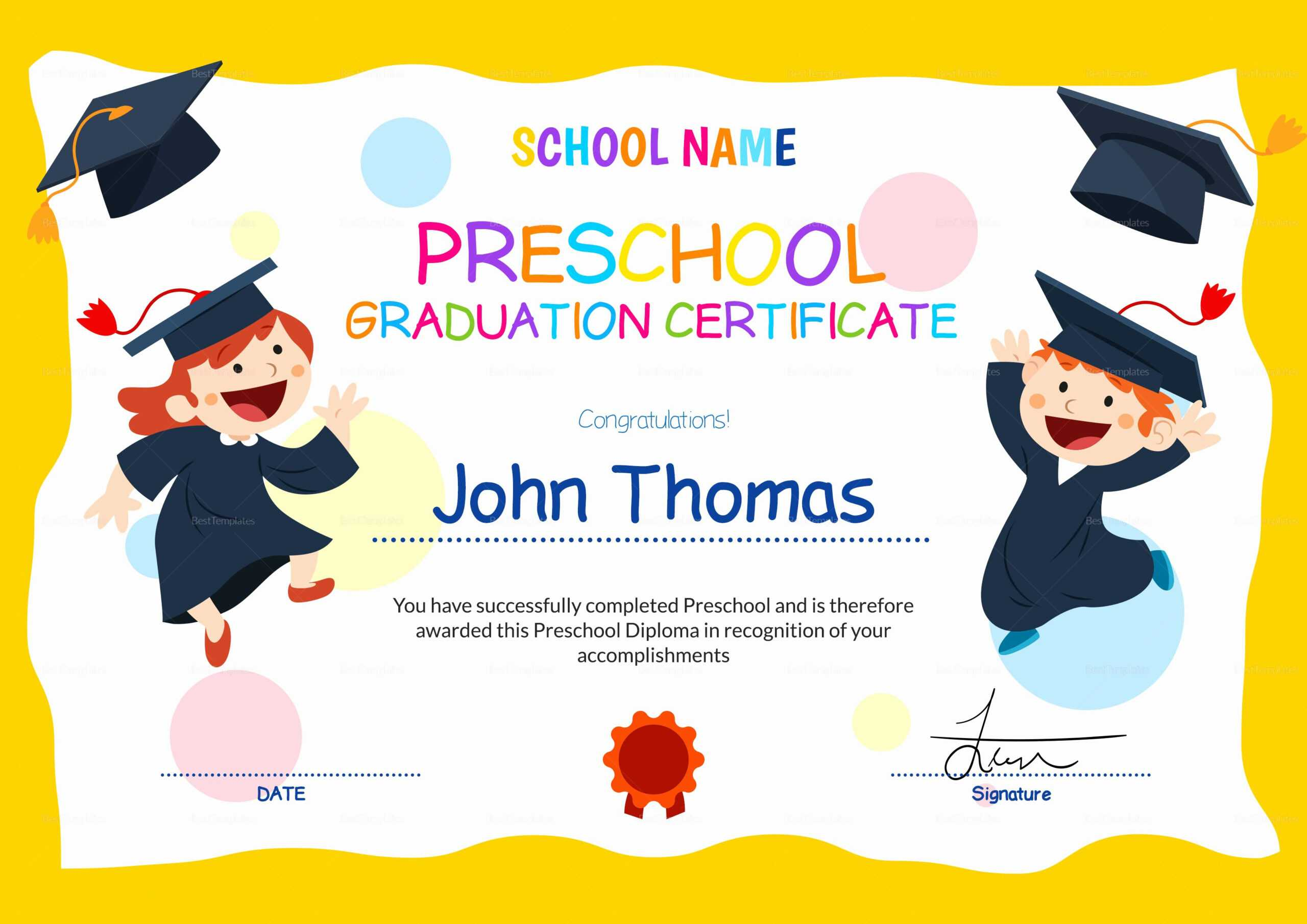 Free Printable Graduation Certificate Templates   Mult-Igry within Free Printable Graduation Certificate Templates