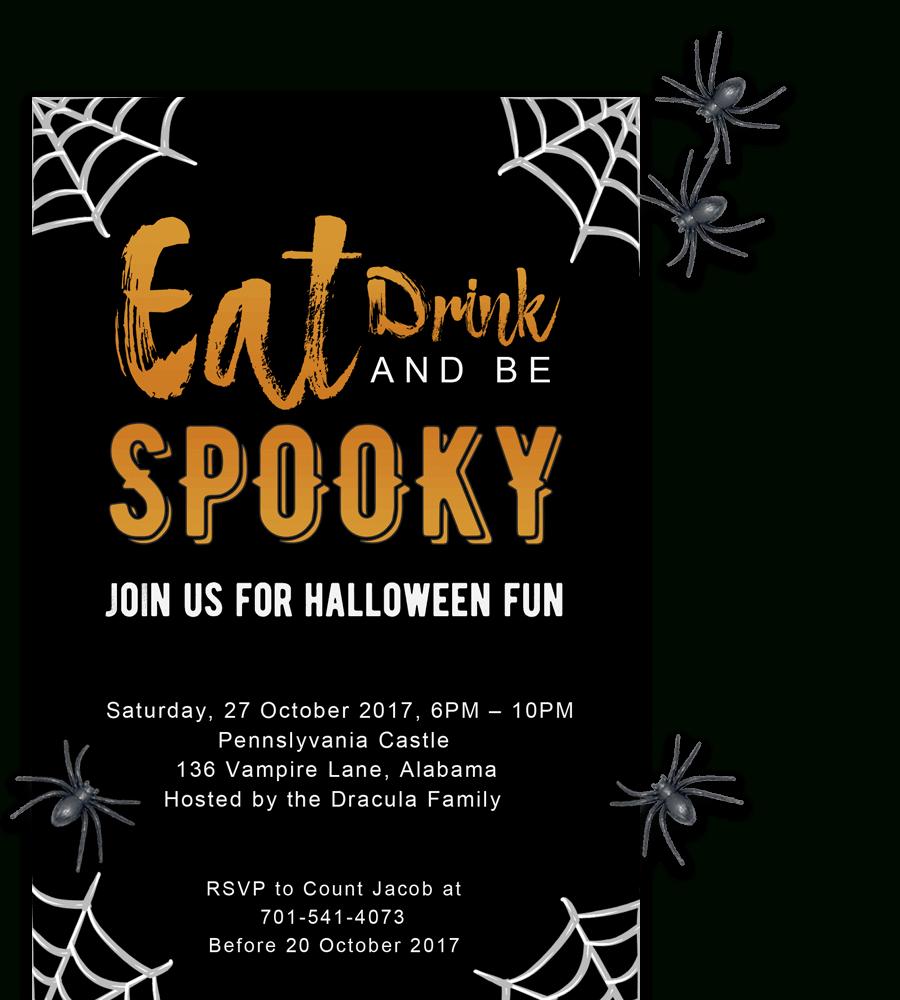 Free Printable Halloween Party Invitations 2018 ✅ [ Template] intended for Free Halloween Templates For Word