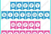 Free Printable Happy Birthday Banners Pink Blue | Happy in Free Printable Happy Birthday Banner Templates