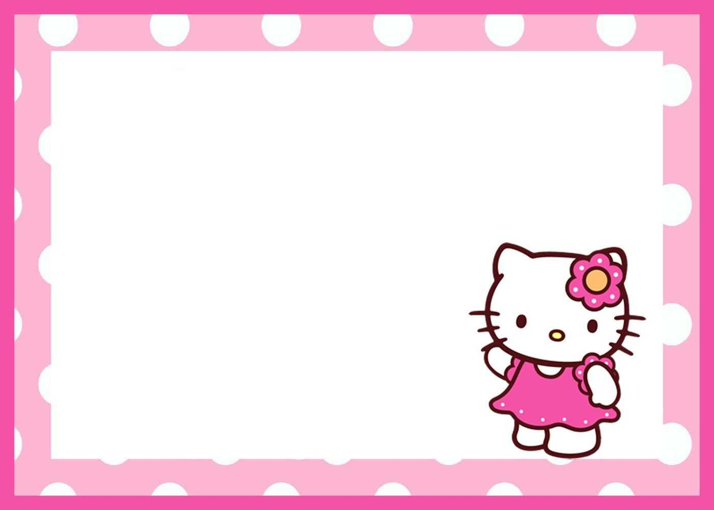 Free Printable Hello Kitty Birthday Card | Mult-Igry for Hello Kitty Banner Template