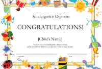 Free Printable Kindergarten Diplomaprintshowergames intended for 5Th Grade Graduation Certificate Template