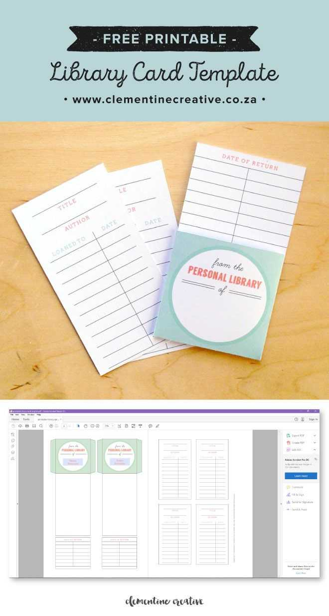 Free Printable Library Cards | Library Card, Library With Library Catalog Card Template
