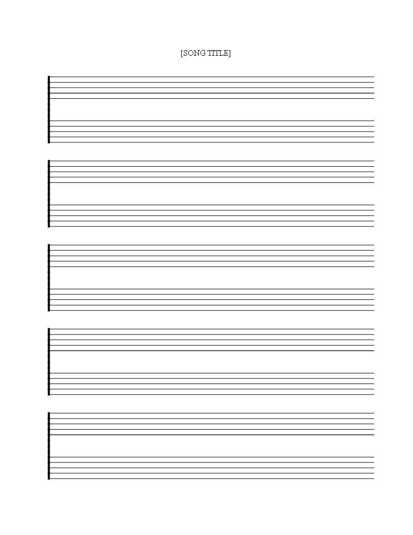 Free Printable Music Staff Sheet 5 Double Lines - Download Pertaining To Blank Sheet Music Template For Word