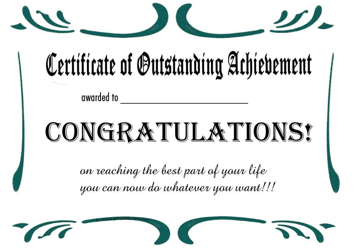 Free Printable Retirement Certificate | Free Printable pertaining to Free Funny Certificate Templates For Word