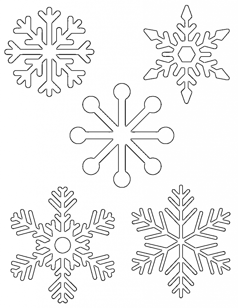 Free Printable Snowflake Templates – Large & Small Stencil For Blank Snowflake Template
