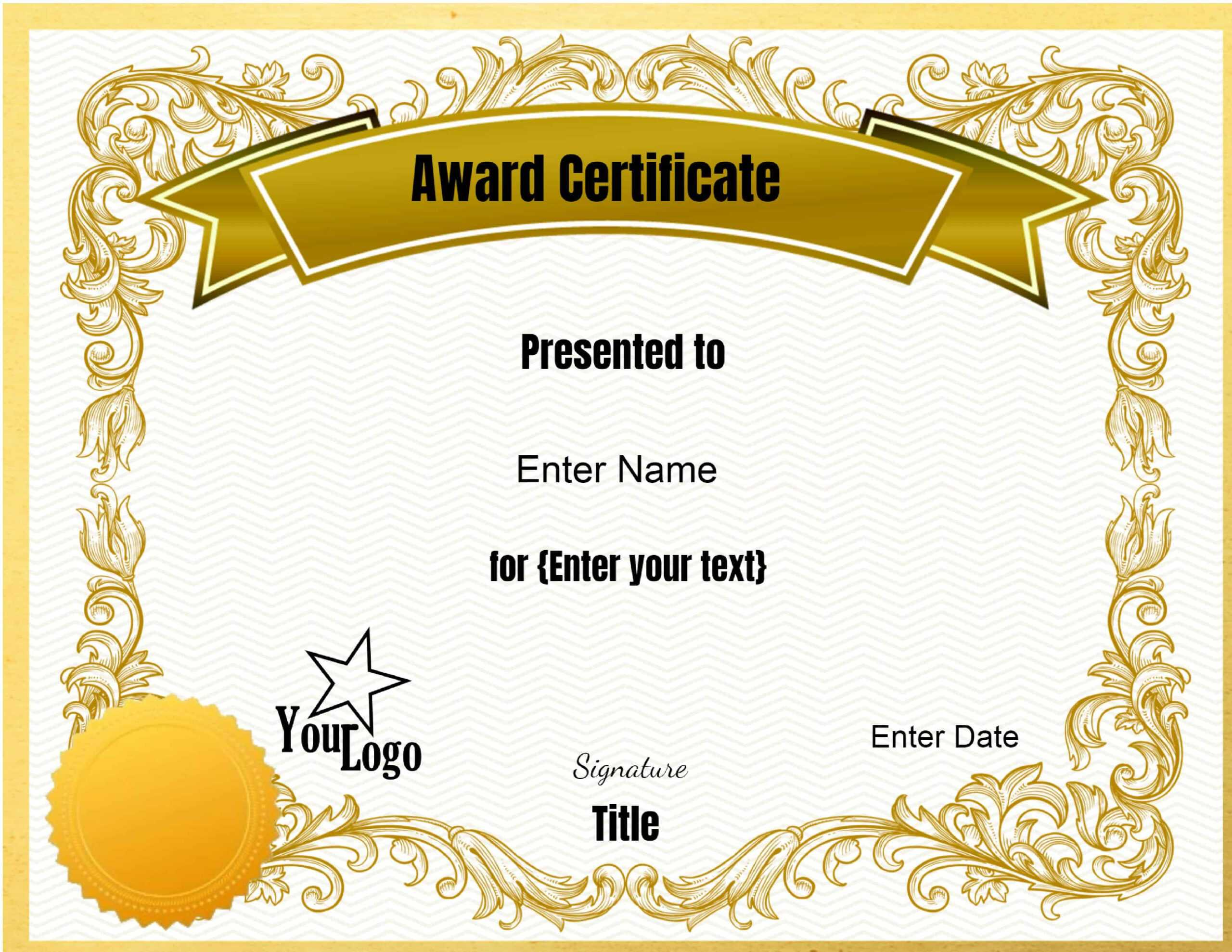 Free Printable Soccer Certificate Templates Award in Update Certificates That Use Certificate Templates
