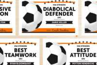 Free Printable Soccer Certificate Templates Editable Award intended for Soccer Certificate Template
