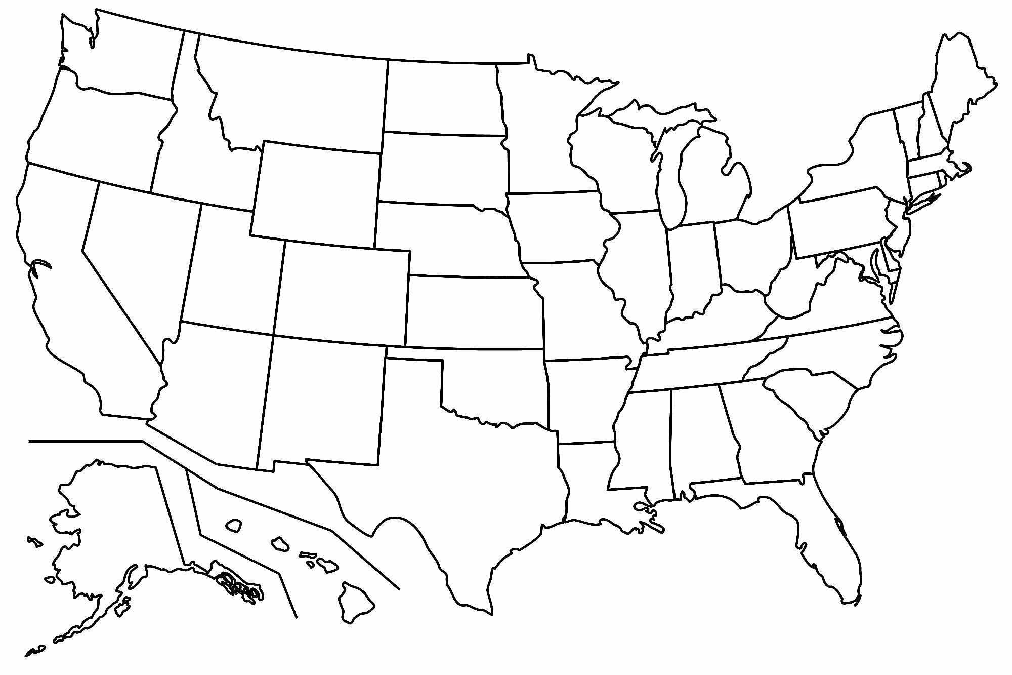Free Printable Us Map Blank Blank Us Map Printable My Blog With Regard To United States Map Template Blank