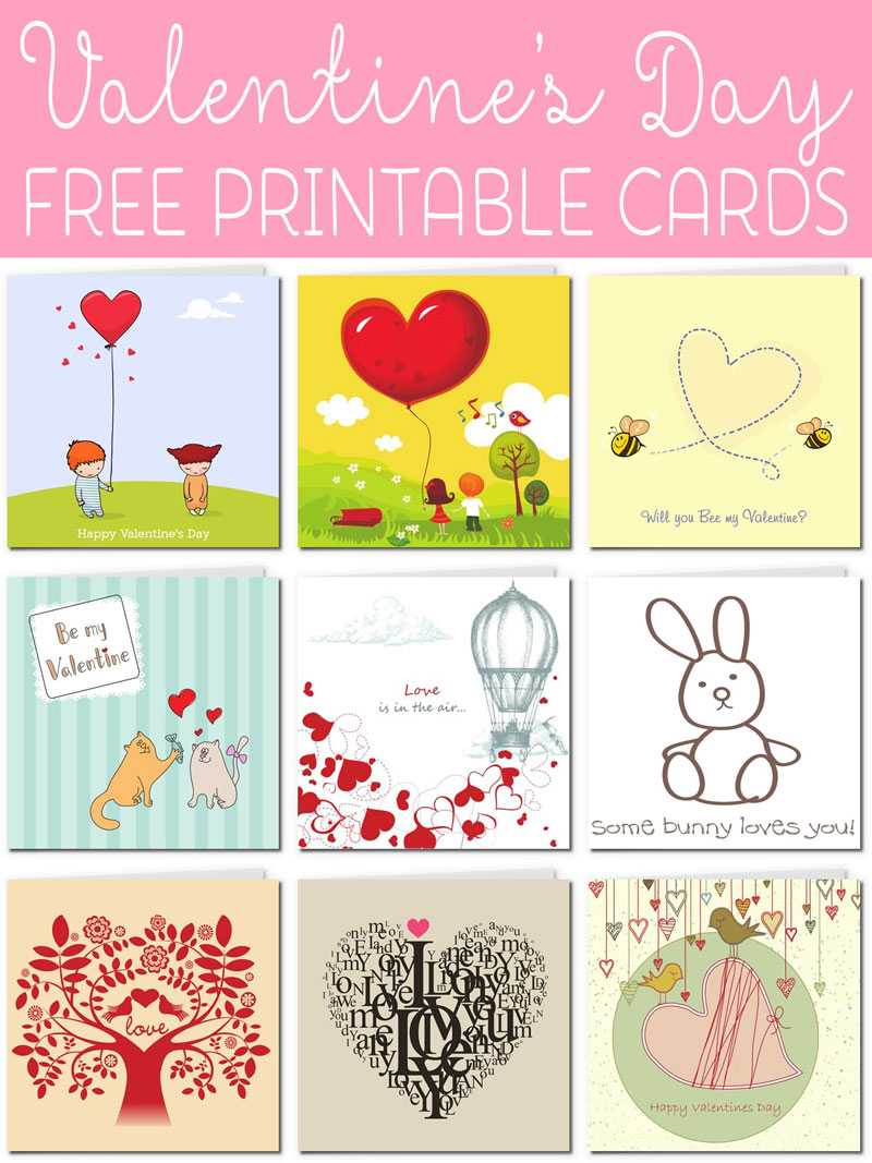 Free Printable Valentine Cards regarding Valentine Card Template For Kids