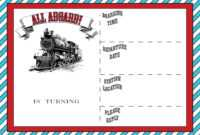 Free Printable Vintage Train Ticket Invitation Template within Blank Train Ticket Template