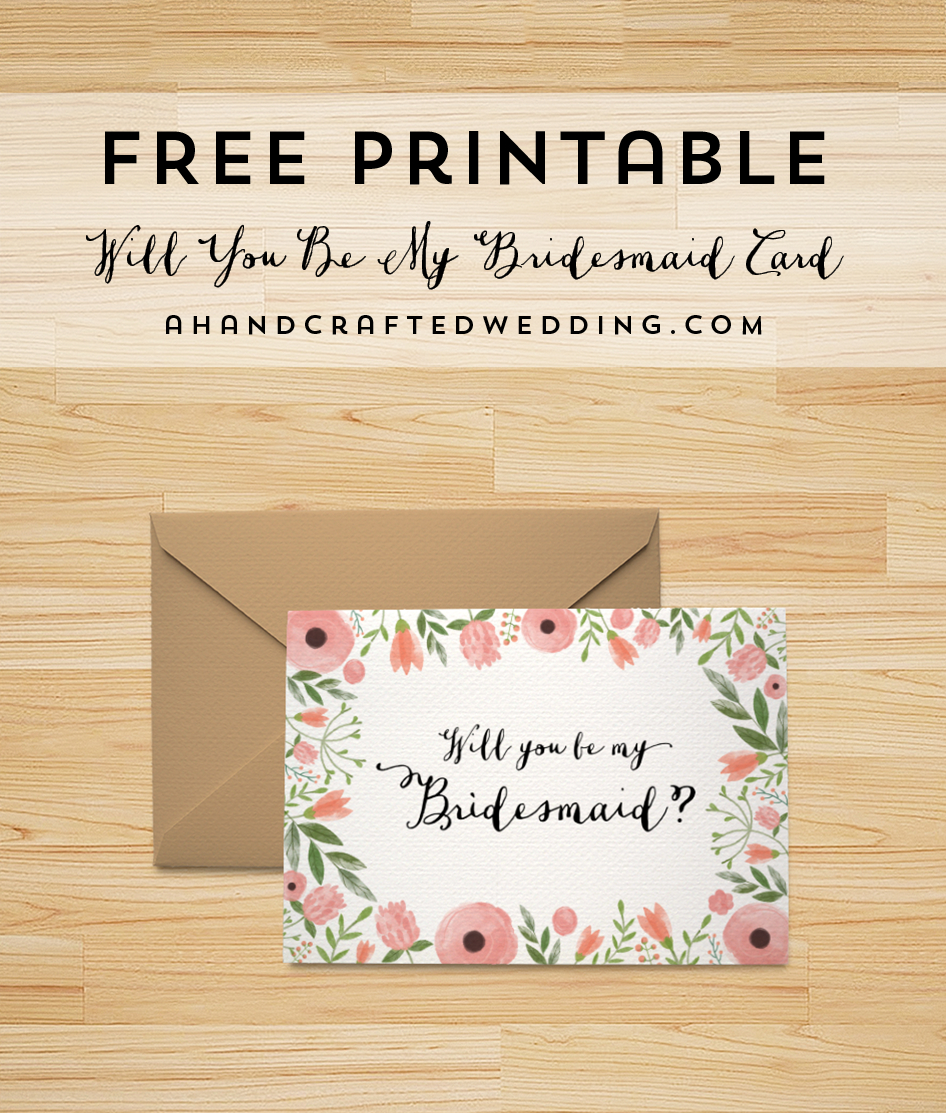 Free Printable Will You Be My Bridesmaid Card   Bridesmaid Within Will You Be My Bridesmaid Card Template