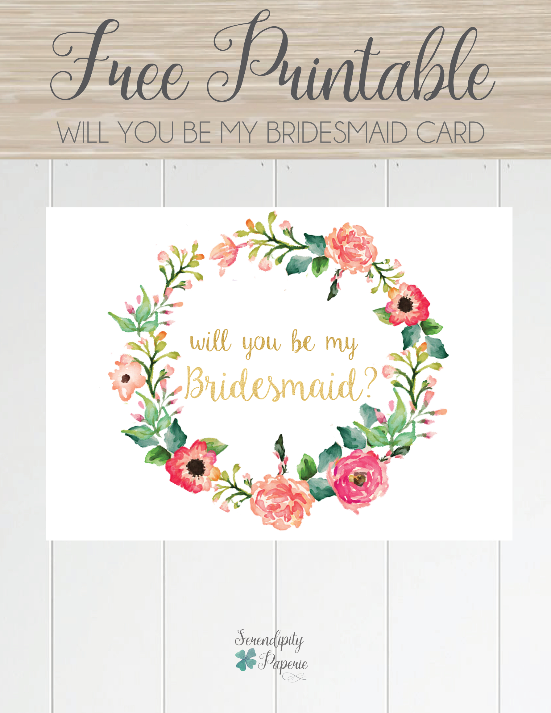 Free Printable Will You Be My Bridesmaid Card. Only At For Will You Be My Bridesmaid Card Template