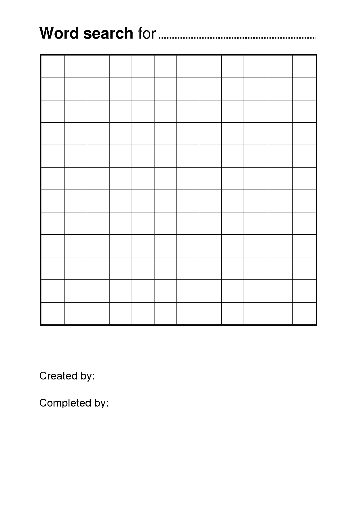Free Printable Word Search Puzzle Templates | Free Printable With Word Sleuth Template