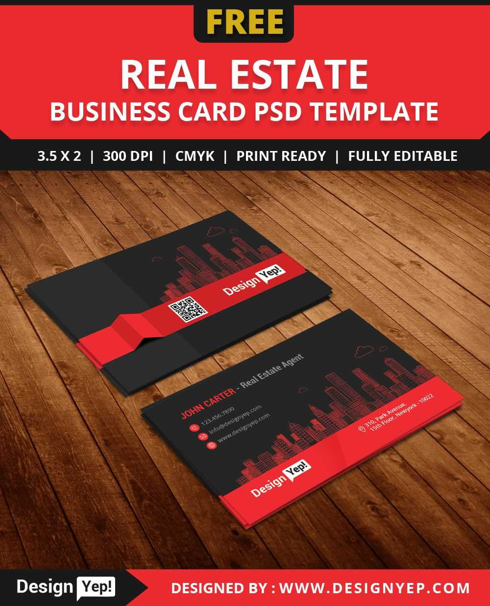Free Real Estate Agent Business Card Template Psd | Business Throughout Real Estate Business Cards Templates Free