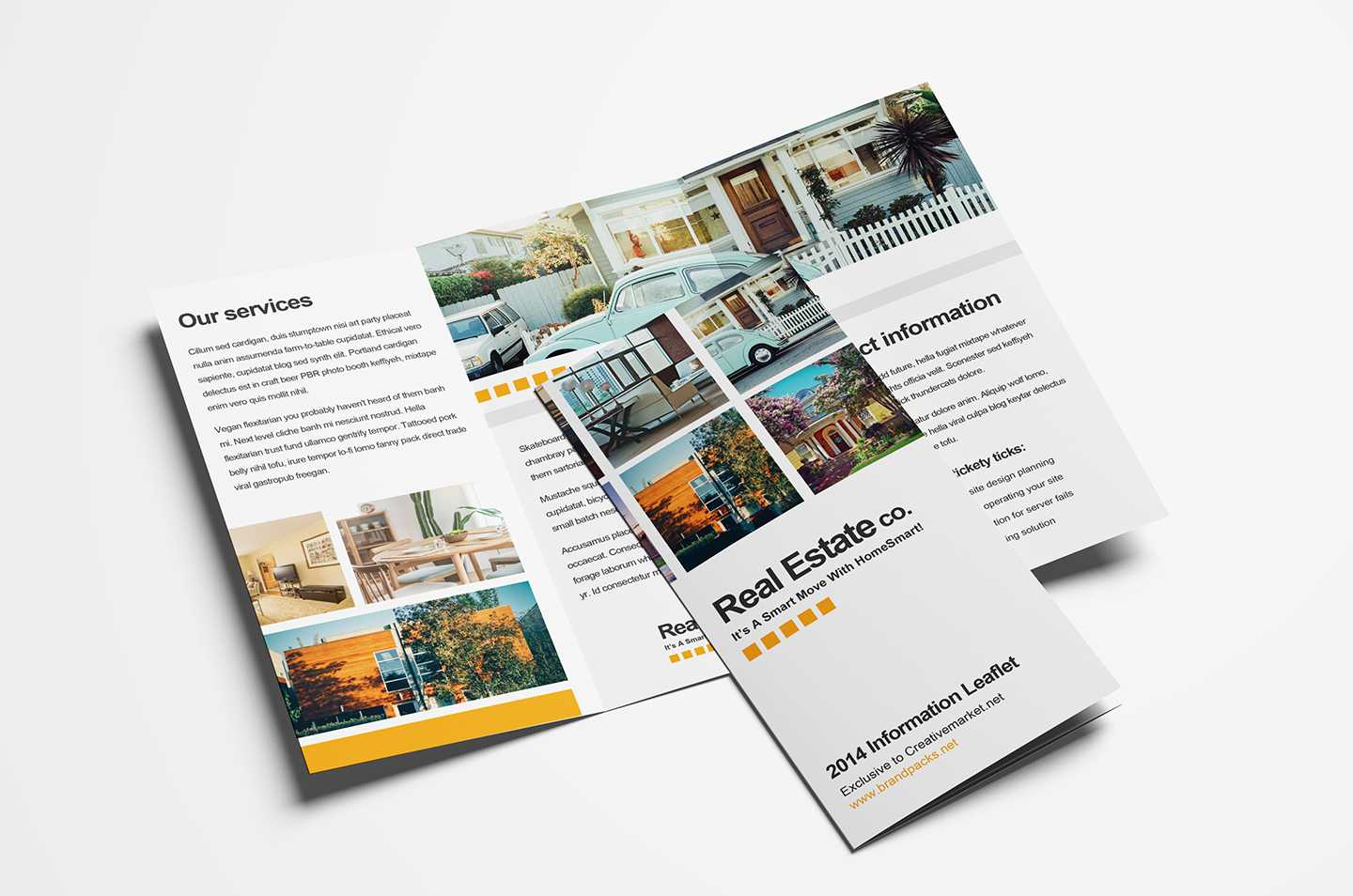 Free Real Estate Trifold Brochure Template In Psd, Ai intended for E Brochure Design Templates