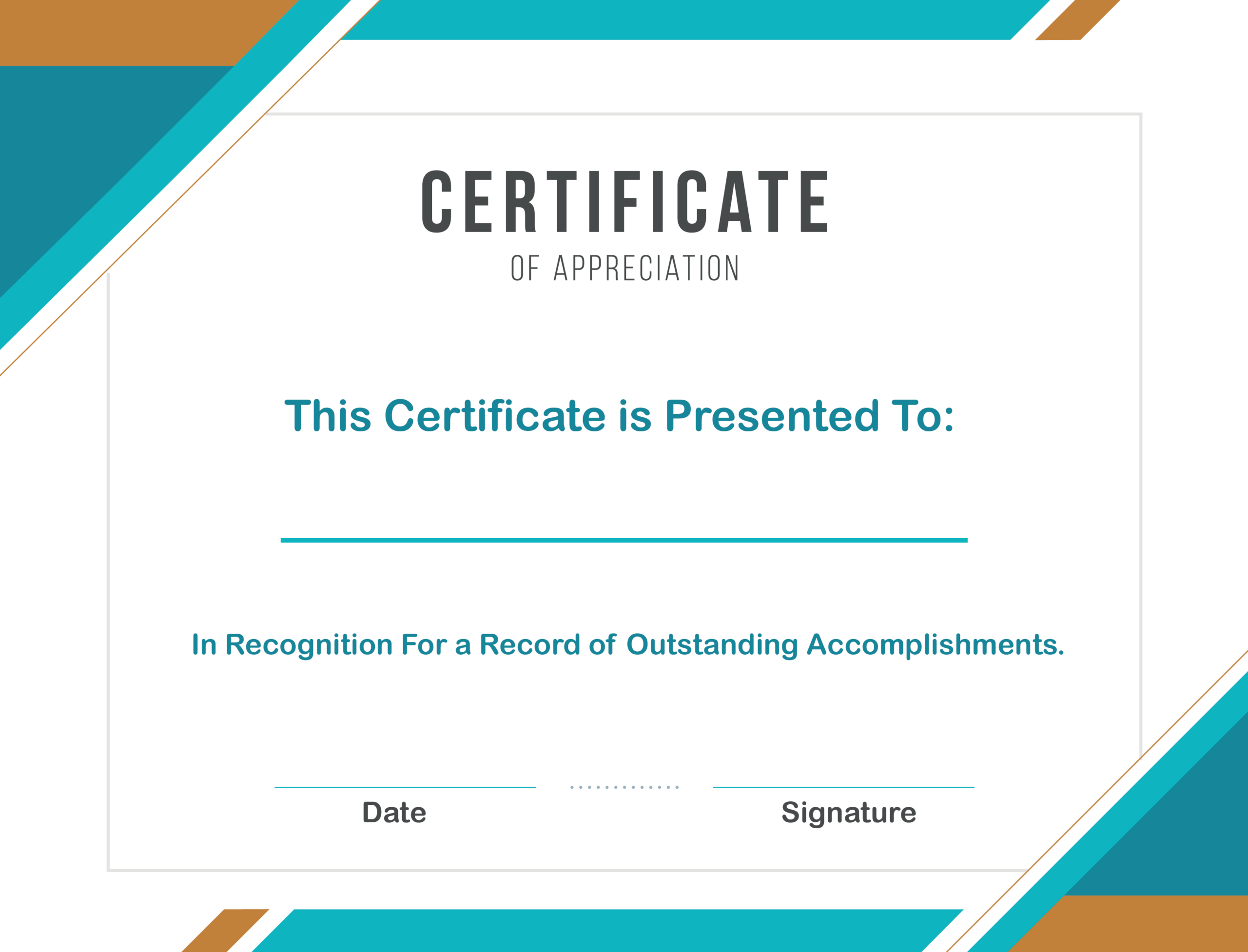 Free Sample Format Of Certificate Of Appreciation Template inside Sample Certificate Of Recognition Template