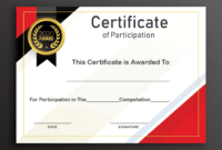 Free Sample Format Of Certificate Of Participation Template pertaining to Certificate Of Participation Word Template