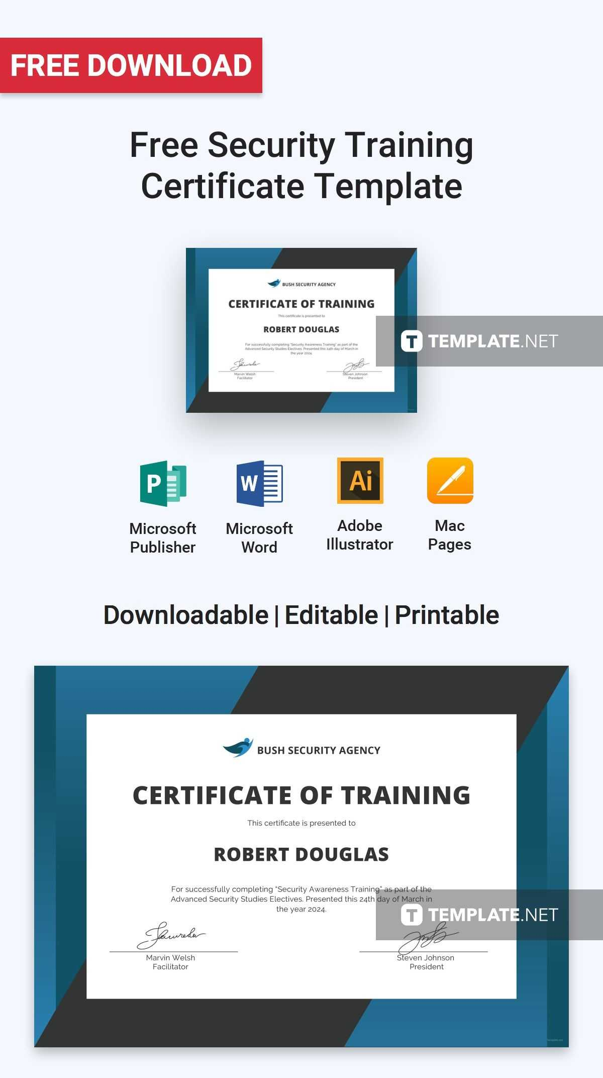 Free Security Training Certificate | Certificate Templates in Certificate Authority Templates