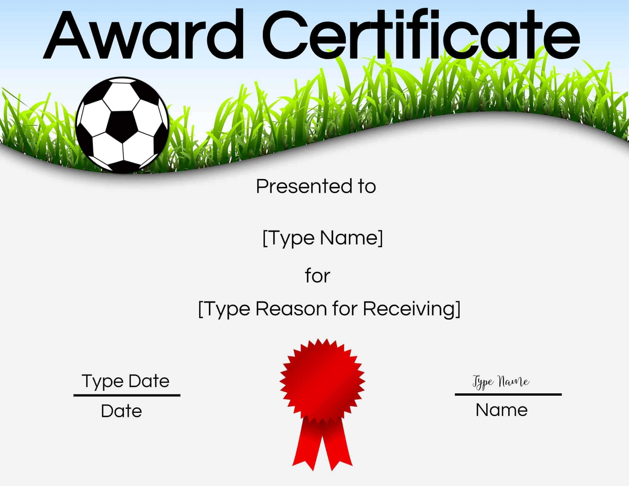 Free Soccer Certificate Maker | Edit Online And Print At Home within Soccer Certificate Templates For Word