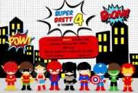 Free Superhero Birthday Party Invitation Templates … In 2019 in Superman Birthday Card Template