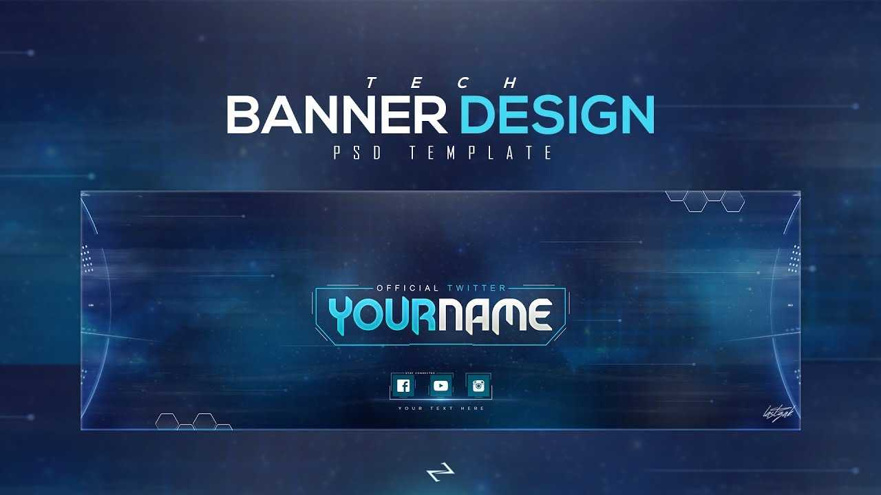 Free Tech Twitter Header Psd Template [Free To Use] - Lastzak18 In Twitter Banner Template Psd