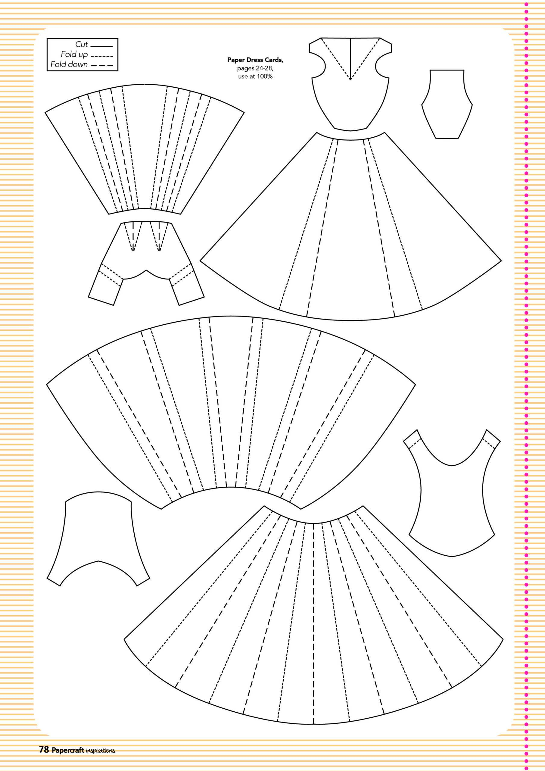 Free Templates From Papercraft Inspirations 129 | Paper inside Card Folding Templates Free