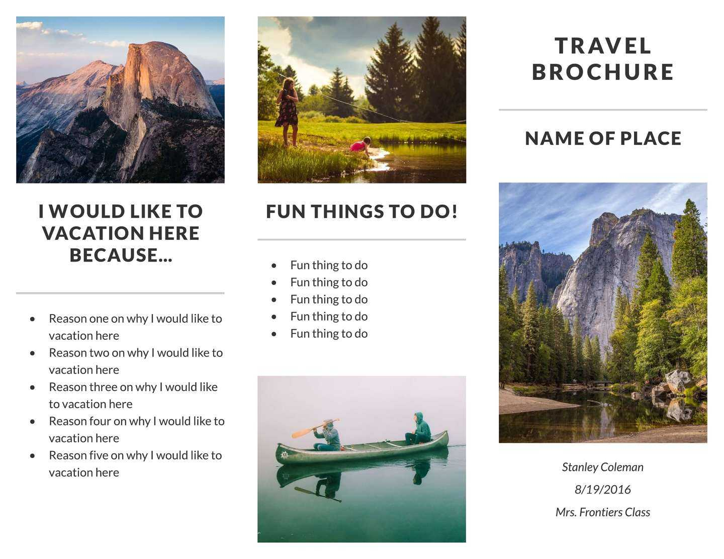 Free Travel Brochure Templates & Examples [8 Free Templates] Pertaining To Island Brochure Template