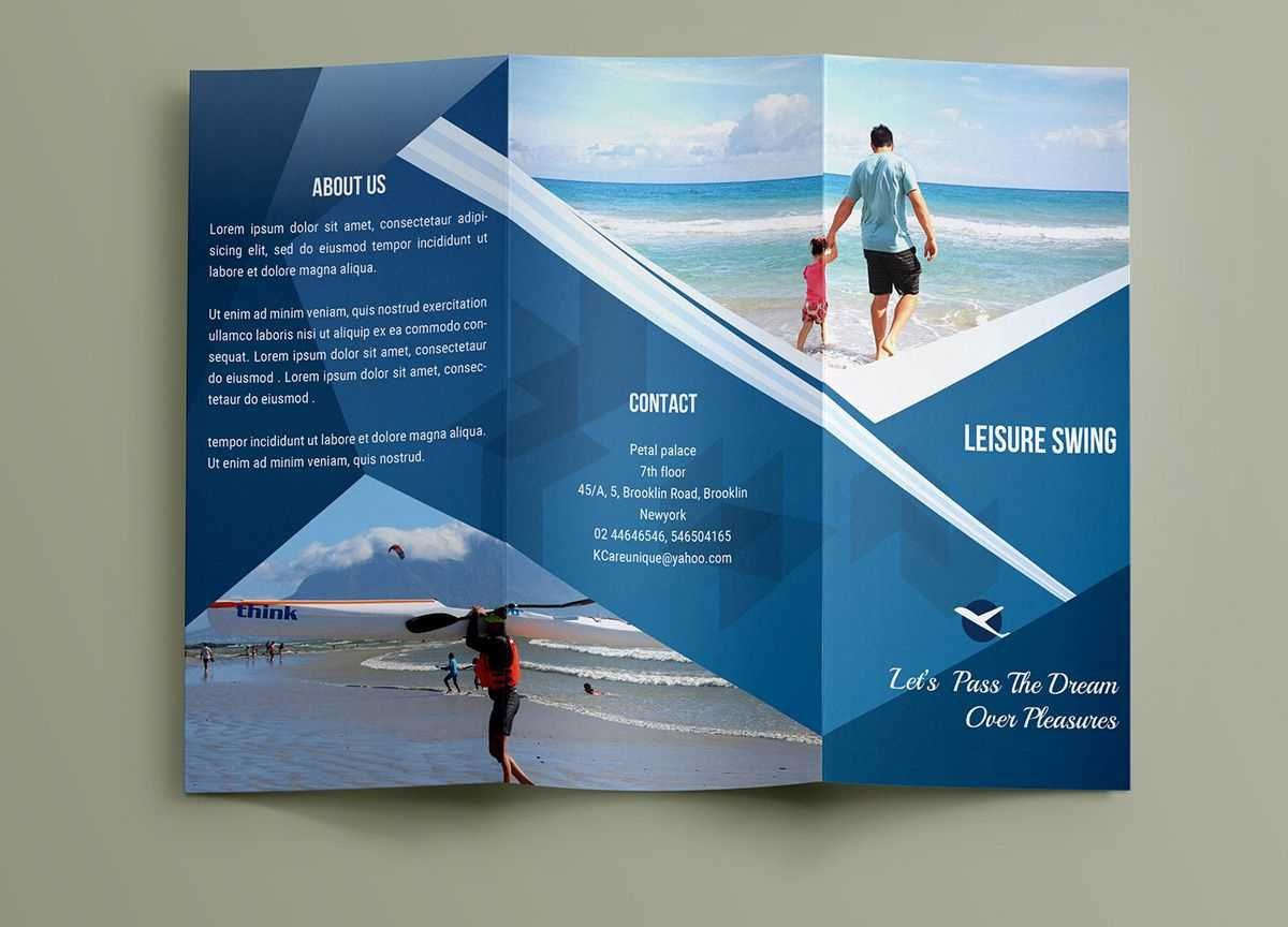 Free Travelling Trifold Brochure Template On Behance With Travel And Tourism Brochure Templates Free