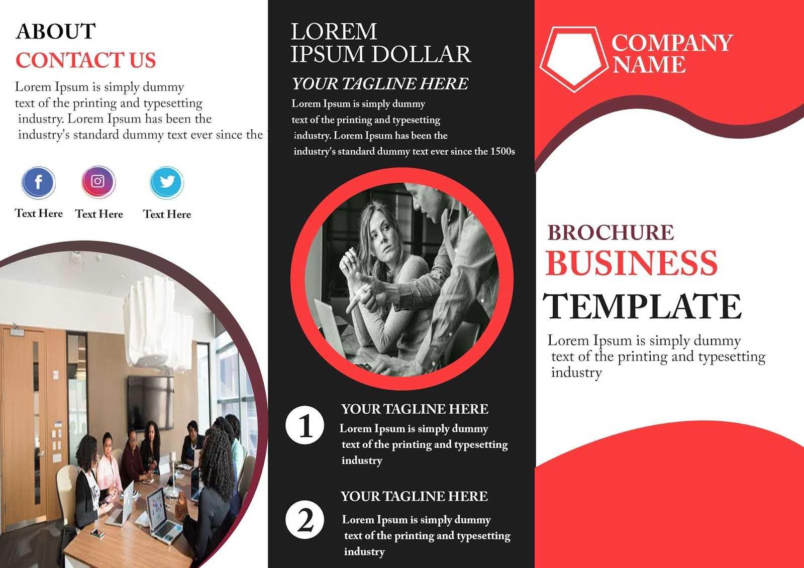 Free Tri-Fold Brochure Template - Download Free Tri-Fold for Free Three Fold Brochure Template