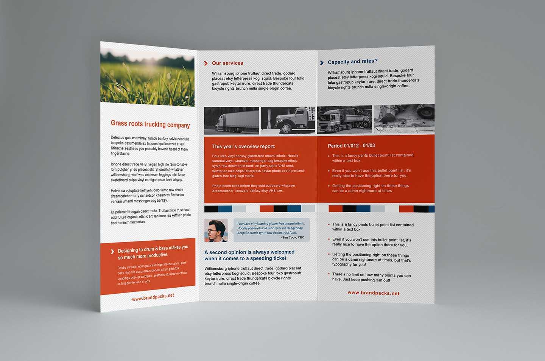 Free Trifold Brochure Template In Psd, Ai & Vector - Brandpacks inside Free Three Fold Brochure Template