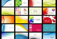 Free Vector Variety Of Dynamic Flow Line Of Business Card throughout Calling Card Free Template