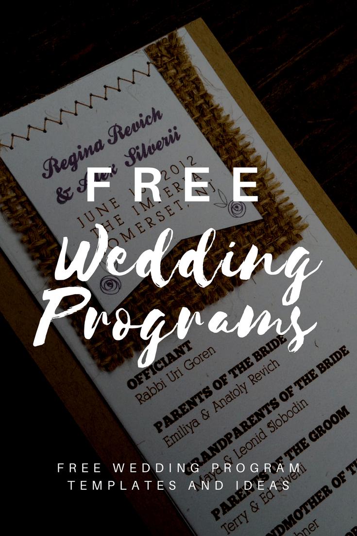 Free Wedding Program Templates | Wedding Program Ideas for Free Event Program Templates Word