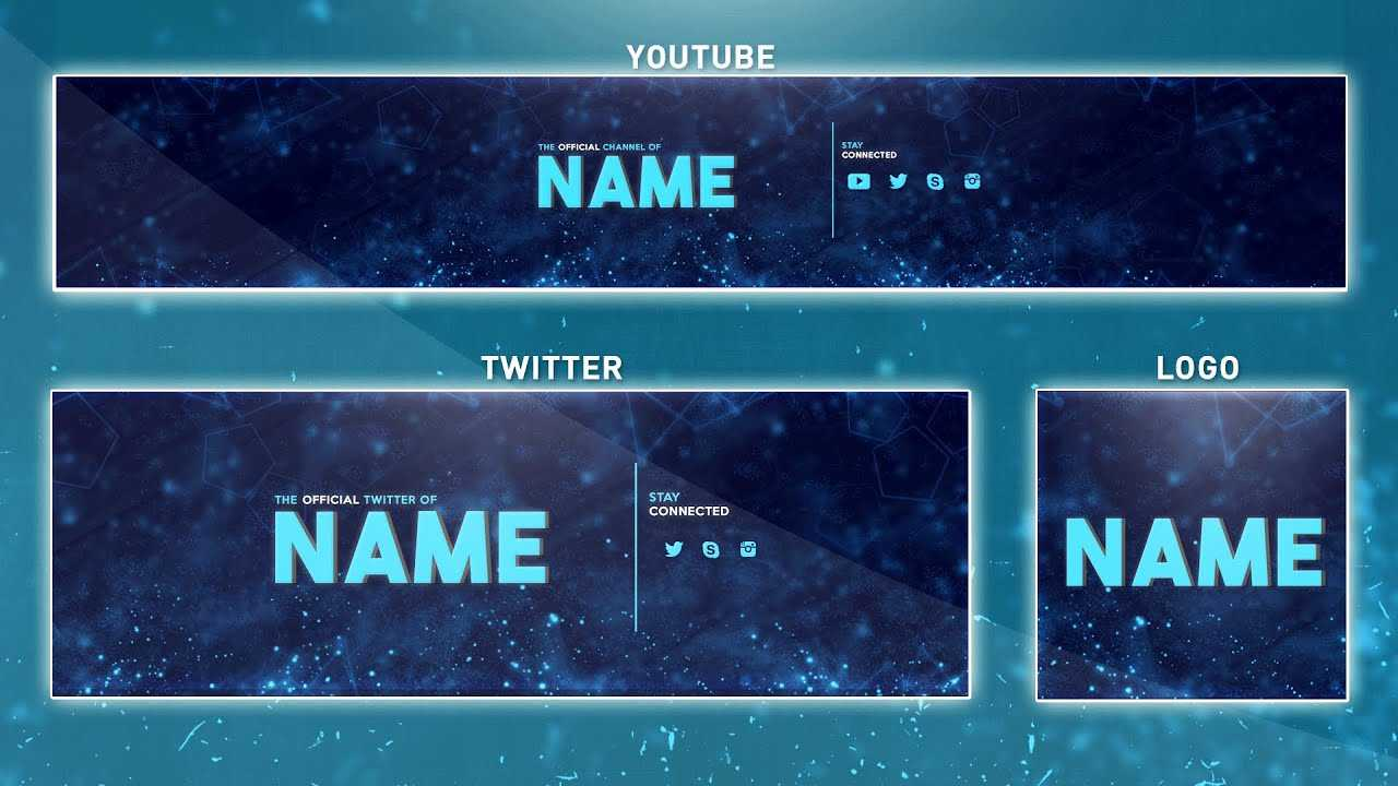Free Youtube Banner Template | Photoshop (Banner + Logo + Twitter Psd) 2016 Pertaining To Adobe Photoshop Banner Templates