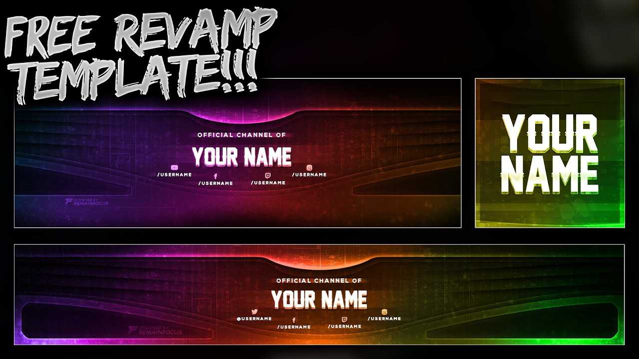 Free Youtube Banner + Twitter Header Template Psd - Free Download - Free Gfx With Regard To Twitter Banner Template Psd