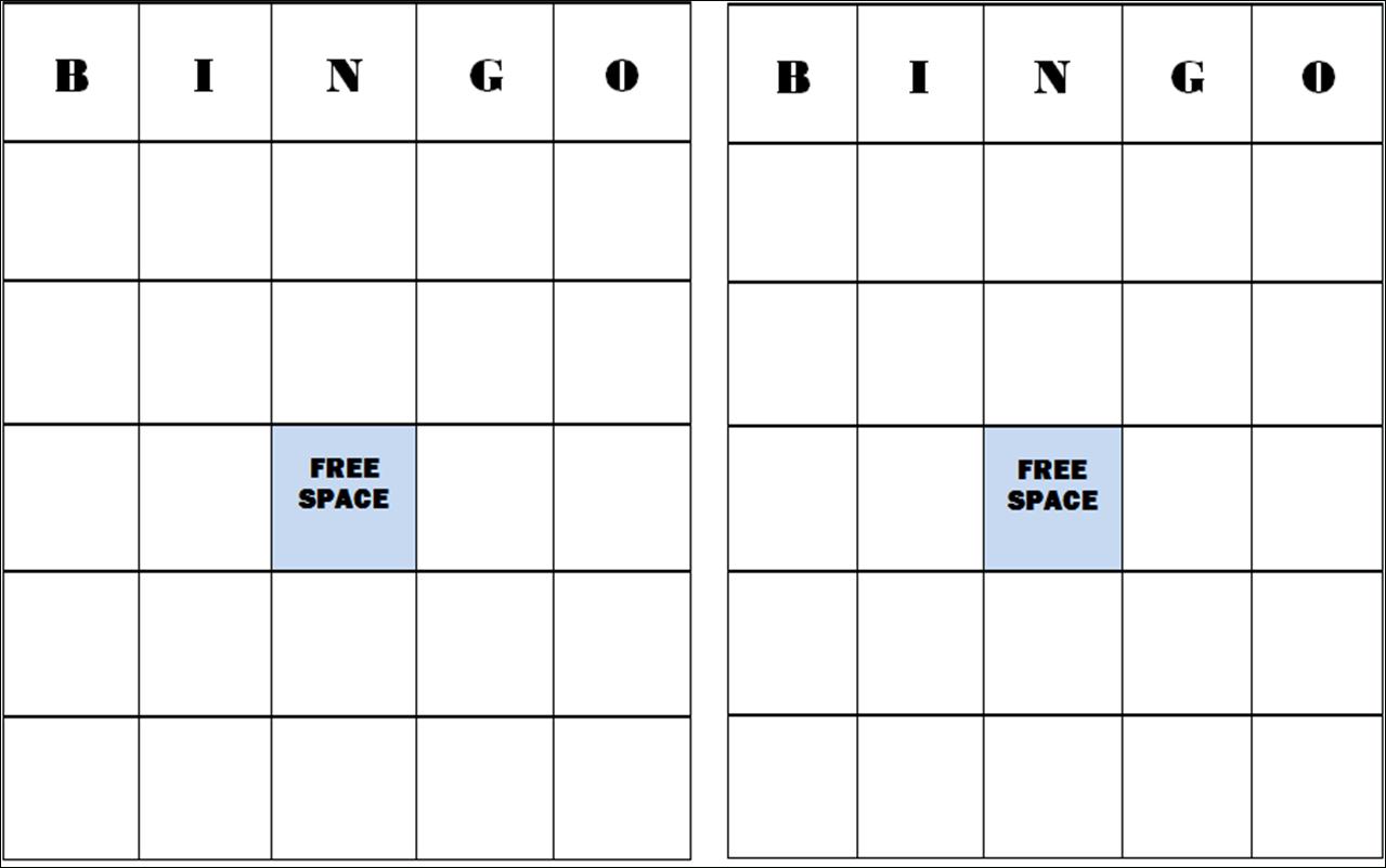 Free+Blank+Bingo+Card+Template | Bingo Card Template, Bingo intended for Ice Breaker Bingo Card Template