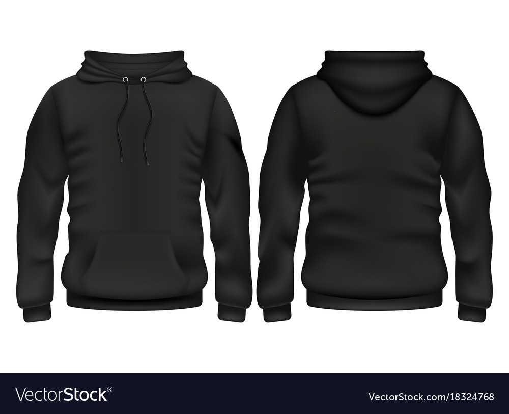 Front And Back Black Hoodie Template With Regard To Blank Black Hoodie Template