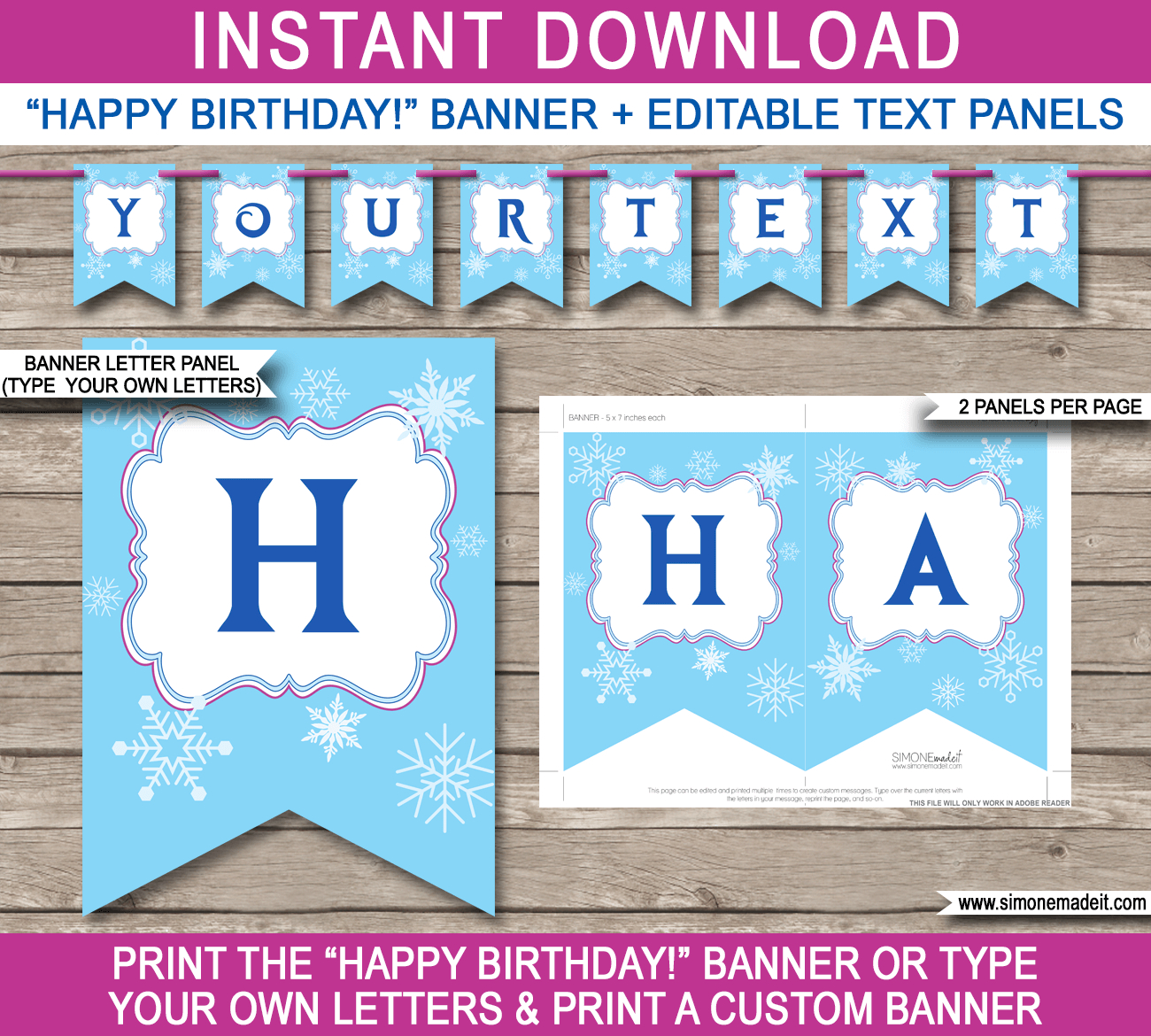 Frozen Party Banner Template Pertaining To Diy Party Banner Template