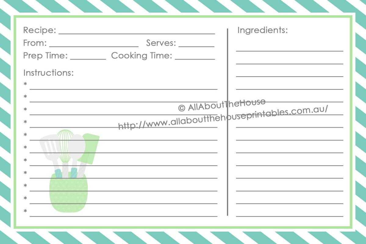 Full Page Recipe Template For Word | Template Business Throughout Full Page Recipe Template For Word