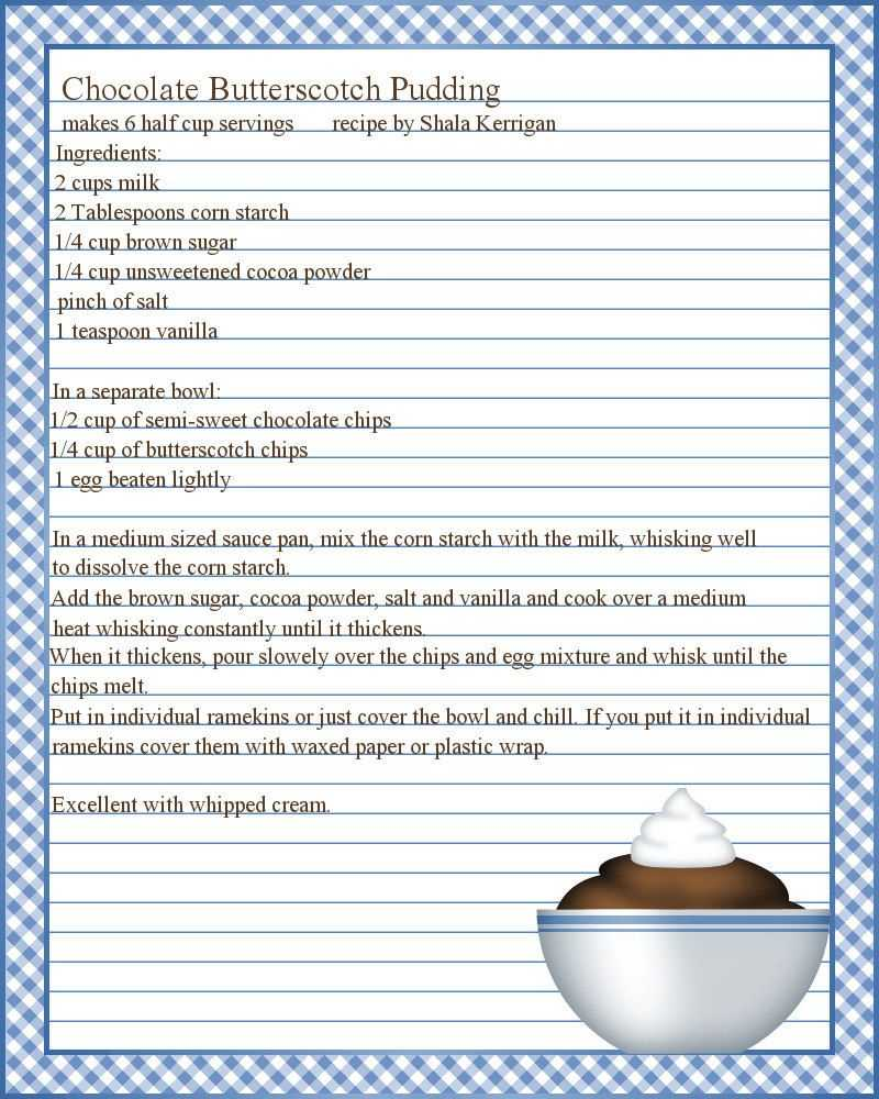 Full Page Recipe Templates - Google Search … | Printable For Full Page Recipe Template For Word